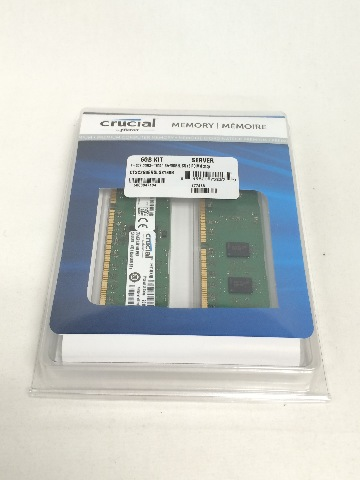 Crucial 6GB Kit (2GBx3) DDR3/DDR3L-1600 (PC3-12800) RDIMM 240-Pin Server Memory