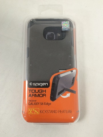 Spigen Tough Armor Galaxy S6 Edge Case, Extreme Heavy Duty Protection - Gunmetal