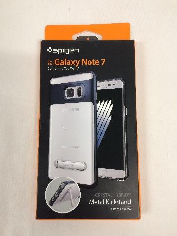 Spigen Crystal Hybrid Galaxy Note 7 Case Magnetic Metal Kickstand - Metal Slate