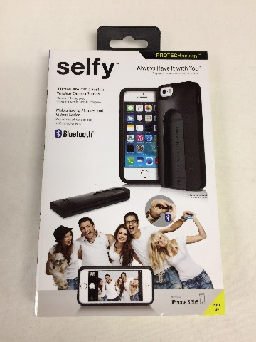 iLuv Selfy Case with Built-in Wireless Camera Shutter for iPhone 5 / 5s - Black