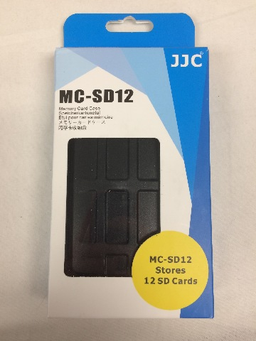 JJC Water-Resistant Holder Storage Memory Card Case for 12 SD Cards (Black)