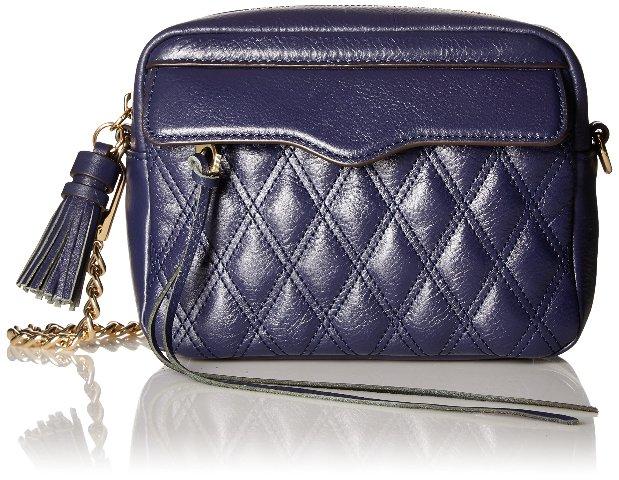 Rebecca Minkoff Mini Leah Clutch, Camera Bag,  Moon Dark Blue