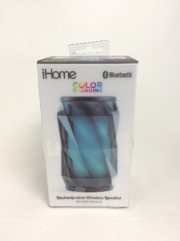 iHome iBT74 Color Changing Bluetooth Rechargeable Speaker System Speaker Phone
