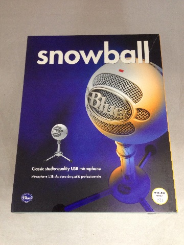 Blue Snowball USB Microphone (Brushed Aluminum) - used
