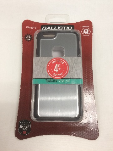Ballistic US1552-B01Y Tungsten Ultra Slim Case for Apple iPhone 6/6S - Onyx/Gray