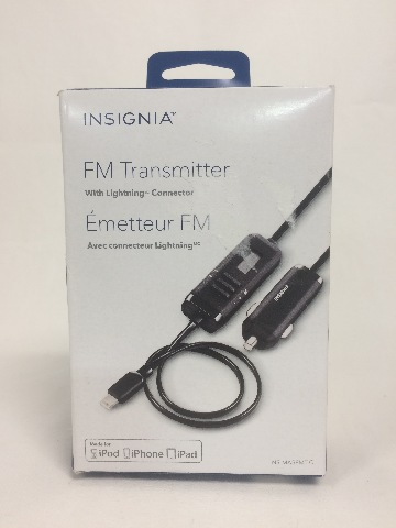 Insignia FM Radio Transmitter for Apple Devices w/ 8-Pin Connector NS-MA5FMT