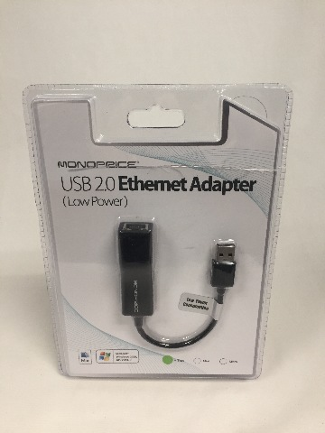 Monoprice USB 2.0 Ultrabook Ethernet Adapter (109466)