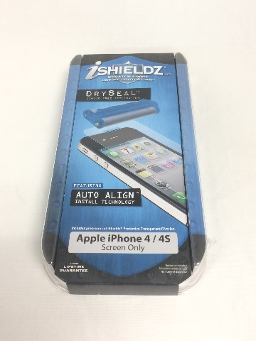 iShieldz  Screen Protector for Apple iPhone 4/4S Dry Seal - 1 Pack - Clear