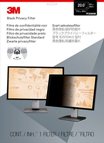 Privacy Filter 20in Ws 16:9 Unframed For Laptop And Lcd