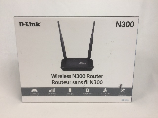 D-Link Wireless N 300 Mbps Home Cloud App-Enabled Broadband Router (DIR-605L)
