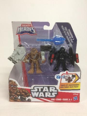 Star Wars Force Awakens Playskool Galactic Heroes Chewbacca Pilot Power Up