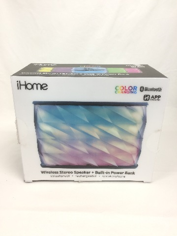 iHome Portable Splashproof Color Changing Rechargeable Bluetooth Stereo Speaker
