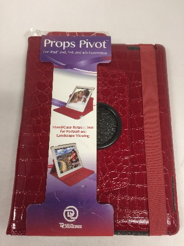 Digital Treasures Props Pivot Case for iPad 2/3/4 series - Red (08444)