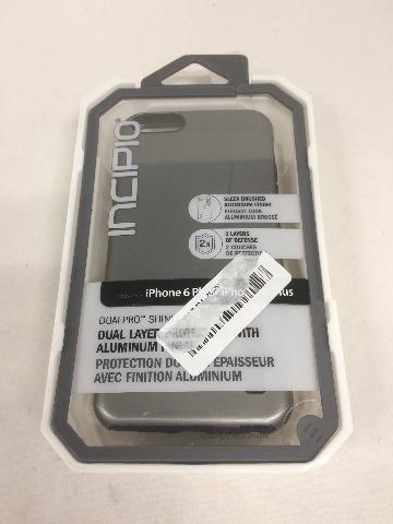 Incipio iPhone 6/6s PLUS Case, DualPro SHINE Heavy Duty 2-Piece, Gunmetal/Black