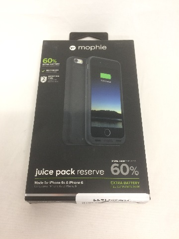 mophie juice pack reserve for iPhone 6/6s, Protective Battery Case, Black