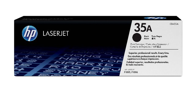 Genuine HP 35A (CB435A) Black Original Toner Cartridge