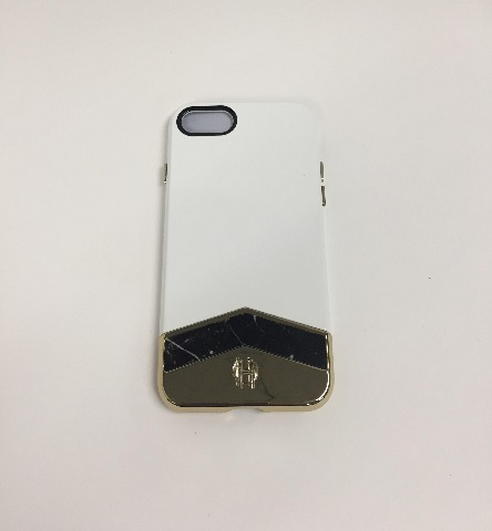 House of Harlow 1960 Slider Case for iPhone 7 - White/Black Marble