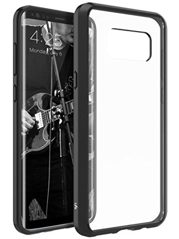 Galaxy S8 Plus Case Crystal Clear Back Cover (Black)
