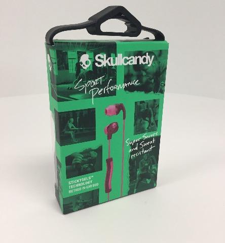 Skullcandy Method In-Ear Sweat Resistant Sports Earbud, Plum/Pink - SEALED