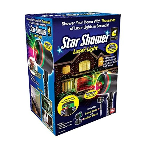Star Showers Red & Green Laser Light In Box For Christmas 2016 As Seen On Tv