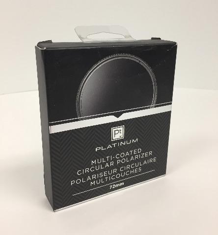 Platinum Series 72mm Circular Polarizer Lens Filter, PTMCCP72, Clear