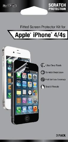 BI 3PK SCREEN PROTECTOR FOR IPHONE4 H3C06TURF-2708