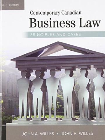 Contemporary Canadian Business Law: Principles and Cases (McGraw-Hill series in psychology)