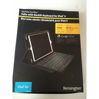 Kensington Keyfolio Pro Plus With Backlit Bluetooth Keyboard for iPad Air