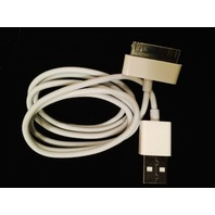 Apple 30 pin charging/sync cable for iPhone 4 4s, iPod 1-4 gen, iPad 1-3 - White