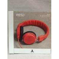 Wesc Unisex Piston Street Headphones Red