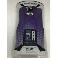Platinum smart case with holster for HTC ONE - Purple