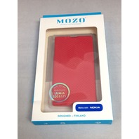Mozo Flip Cover For Nokia Lumia 520 (Red)