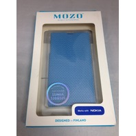 Mozo Flip Cover For Nokia Lumia 520 (Blue)