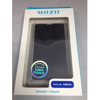 Mozo Flip Cover For Nokia Lumia 520 (Black)