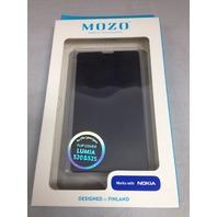 Mozo Flip Cover For Nokia Lumia 520 (Black)