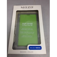 Mozo Flip Cover for Nokia 520 - Green
