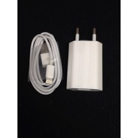 USB EU Home Wall Power Charger Adapter EU Plug and cable for iPhone 5, 6, 7, 8