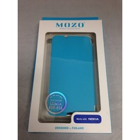 Mozo Nokia Lumia 630 / 638 Flip Phone Case (Neon Blue)