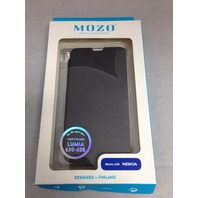 Mozo Nokia Lumia 630 / 638 Flip Phone Case (Black)