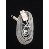 10 foot Apple iPhone X 8 7 6 5, iPod 5g, iPad mini Air USB charge cable - 8 pin 105382-5060
