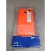 Nokia CC-3084 Hard Shell Clip-On Case Cover for Nokia Lumia 530 - Bright Orange
