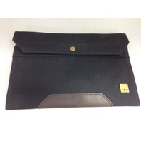 KNOMO Balham Surface Envelope Black Canvas (57-061-BLK)
