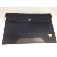 KNOMO Balham Surface Envelope Black Canvas (57-061-BLK)