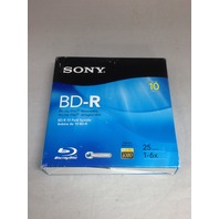 Sony 10BNR25RNS 6x 25GB Recordable Blu-Ray Disc - 10 Pack Spindle