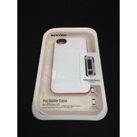 Incase Cl59890 Slider For iPhone 4/4s - White/Raspberry