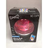 Supersonic SC1379PK Disco Ball Speaker, Pink