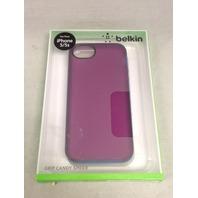 Belkin Grip Candy Sheer Case For New Apple iPhone 5 5s SE (Purple / Blue)