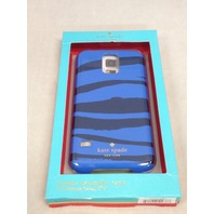 Kate Spade New York Hybrid Samsung Galaxy S5 Fitted Hard Shell Case Blue Zebra