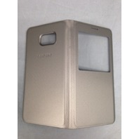 Genuine Samsung Galaxy S6 edge Plus Case S-View Flip Cover Folio - Gold