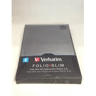 Verbatim Folio Slim Case with Bluetooth Keyboard for iPad 2/3/4